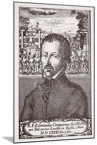 Edmund Campion--Mounted Giclee Print