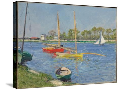 The Seine at Argenteuil, 1882-Gustave Caillebotte-Stretched Canvas Print