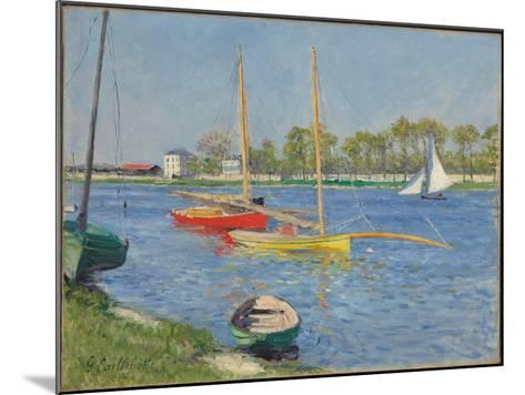 The Seine at Argenteuil, 1882-Gustave Caillebotte-Mounted Giclee Print
