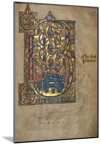 Ms 322 F.7R, Psalm 1, Initial B, Tree of Jesse, Illustration from the 'De Braile Psalter', C.1250-William de Brailes-Mounted Giclee Print