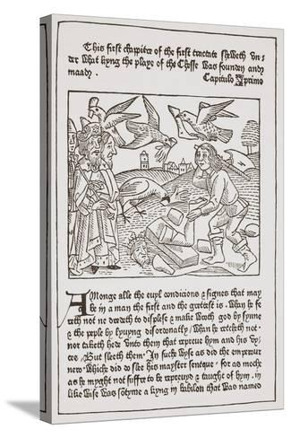 A Page from 'The Game of the Chesse' Printed by Caxton in 1480--Stretched Canvas Print