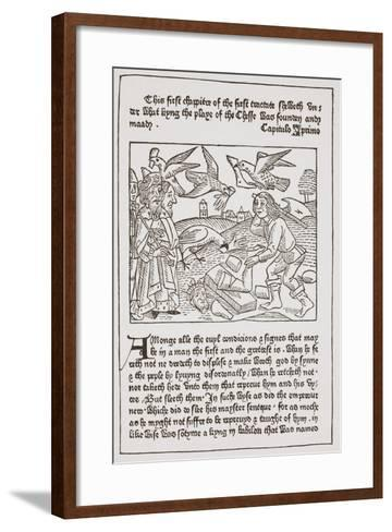 A Page from 'The Game of the Chesse' Printed by Caxton in 1480--Framed Art Print