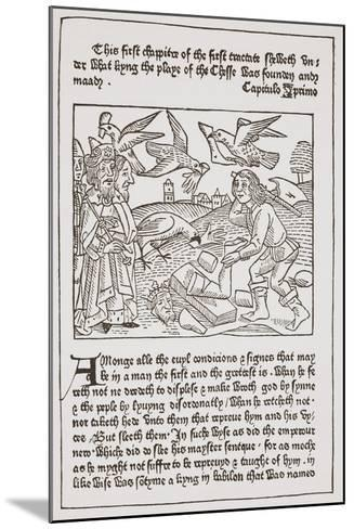 A Page from 'The Game of the Chesse' Printed by Caxton in 1480--Mounted Giclee Print