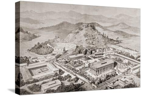 Artist's Impression of Olympia, Greece, at the Time of the Ancient Olympic Games, from 'El Mundo?-European School-Stretched Canvas Print