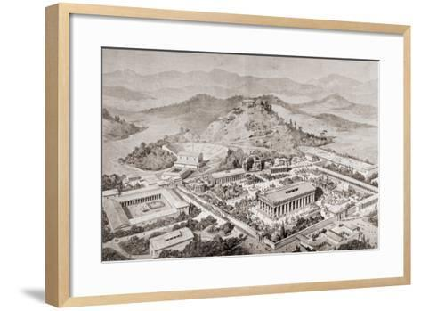 Artist's Impression of Olympia, Greece, at the Time of the Ancient Olympic Games, from 'El Mundo?-European School-Framed Art Print