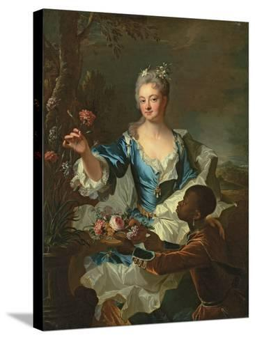 Portrait of Hyacinthe-Sophie De Beschanel-Nointel, Marquise De Louville-Hyacinthe Rigaud-Stretched Canvas Print