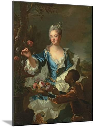 Portrait of Hyacinthe-Sophie De Beschanel-Nointel, Marquise De Louville-Hyacinthe Rigaud-Mounted Giclee Print