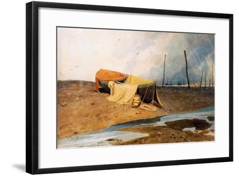 A Boat on the Beach-John Sell Cotman-Framed Art Print