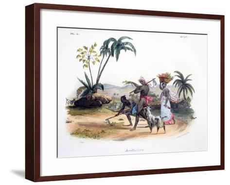 Gardeners Cultivating Vegetables, 1827-35-M^E^ Burnouf-Framed Art Print