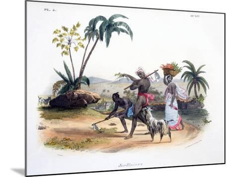 Gardeners Cultivating Vegetables, 1827-35-M^E^ Burnouf-Mounted Giclee Print