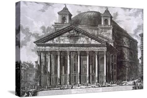 Pantheon of Agrippa, Rome-Giovanni Battista Piranesi-Stretched Canvas Print