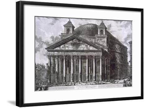 Pantheon of Agrippa, Rome-Giovanni Battista Piranesi-Framed Art Print