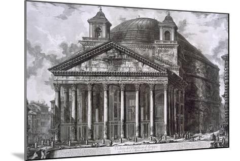Pantheon of Agrippa, Rome-Giovanni Battista Piranesi-Mounted Giclee Print