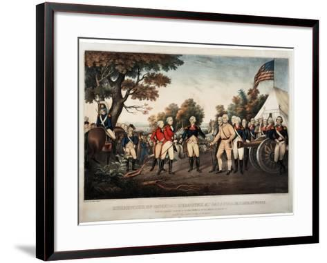 Surrender of General Burgoyne at Saratoga N.Y. Oct 17th 1777 New York, Print Made by Nathaniel?-John Trumbull-Framed Art Print