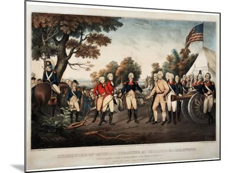 Surrender of General Burgoyne at Saratoga N.Y. Oct 17th 1777 New York, Print Made by Nathaniel?-John Trumbull-Mounted Giclee Print