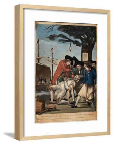 The Bostonian's Paying the Excise-Man, or Tarring and Feathering, 1774-Philip Dawe-Framed Art Print