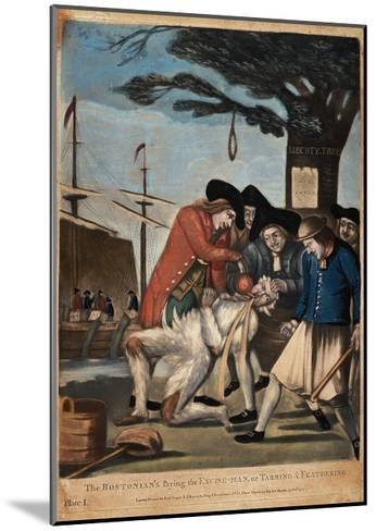 The Bostonian's Paying the Excise-Man, or Tarring and Feathering, 1774-Philip Dawe-Mounted Giclee Print
