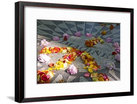 John Lennon Tribute in Strawberry Fields in Central Park, New York--Framed Art Print
