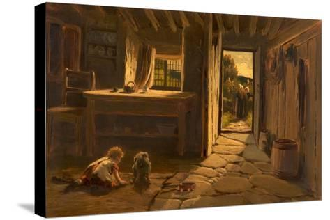 Cronies, 1884-Buckley Ousey-Stretched Canvas Print