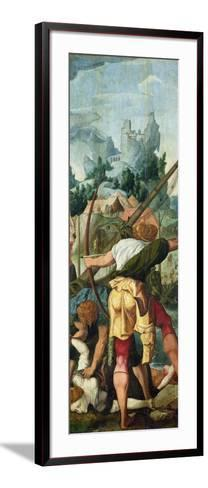 The Martyrdom of the Virgins, Right Panel from the Triptych of Saint Ursula and the Eleven?-Jan van Scorel-Framed Art Print