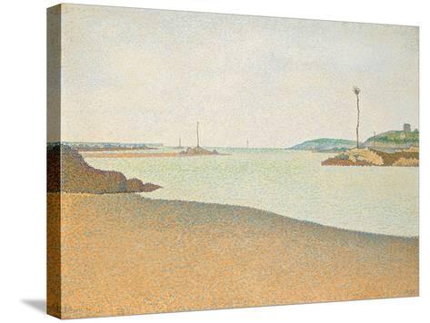 Les Balises, Saint-Briac, 1890-Paul Signac-Stretched Canvas Print