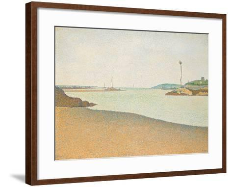 Les Balises, Saint-Briac, 1890-Paul Signac-Framed Art Print
