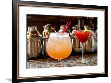 Campbell Apartment Cocktail Bar at Grand Central Station with a Prohibition Punch and Bayard Fizz…--Framed Art Print