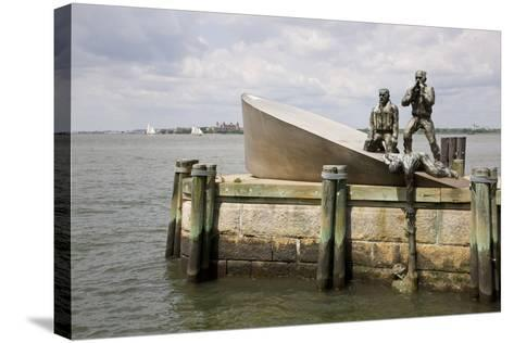 American Merchant Mariners' Memorial in Battery Park--Stretched Canvas Print