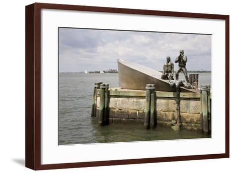 American Merchant Mariners' Memorial in Battery Park--Framed Art Print
