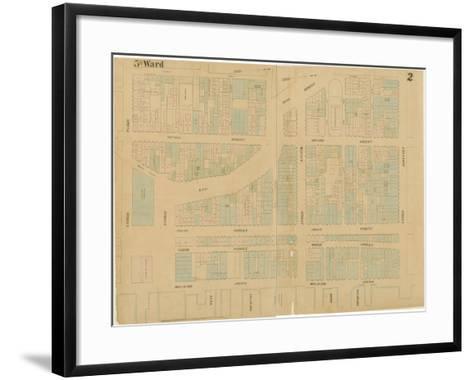 Maps of the City of Philadelphia, Volume 1, Plate 2, 1860-Ernest and Locher, William Hexamer-Framed Art Print