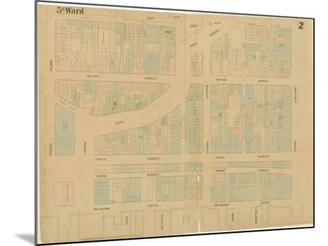 Maps of the City of Philadelphia, Volume 1, Plate 2, 1860-Ernest and Locher, William Hexamer-Mounted Giclee Print