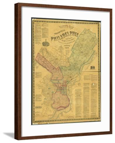 Scott's Map of the Consolidated City of Philadelphia, 1856-James Scott-Framed Art Print