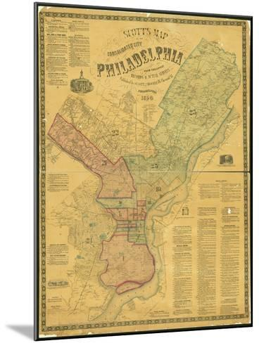 Scott's Map of the Consolidated City of Philadelphia, 1856-James Scott-Mounted Giclee Print
