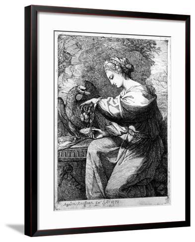 Hebe, 1770-Angelica Kauffmann-Framed Art Print