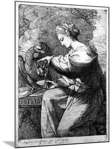 Hebe, 1770-Angelica Kauffmann-Mounted Giclee Print