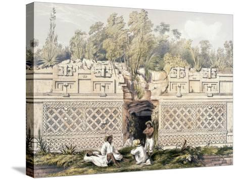 Ornament over the Gateway of the Great Teocallis, from 'Views of Ancient Monuments in Central…-Frederick Catherwood-Stretched Canvas Print