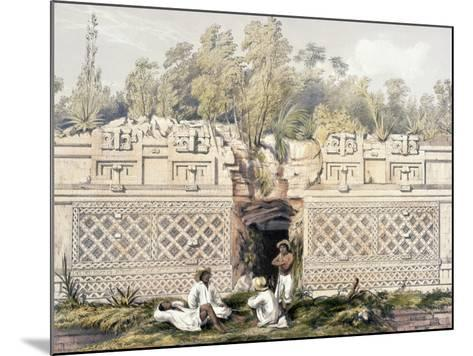 Ornament over the Gateway of the Great Teocallis, from 'Views of Ancient Monuments in Central…-Frederick Catherwood-Mounted Giclee Print