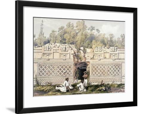 Ornament over the Gateway of the Great Teocallis, from 'Views of Ancient Monuments in Central…-Frederick Catherwood-Framed Art Print