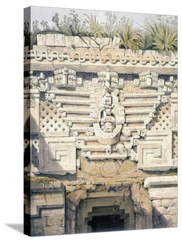 Ornament over Principal Doorway at Casa Del Gobernador, from 'Views of Ancient Monuments in…-Frederick Catherwood-Stretched Canvas Print