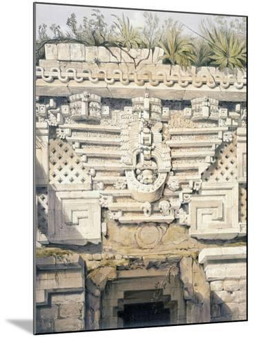 Ornament over Principal Doorway at Casa Del Gobernador, from 'Views of Ancient Monuments in…-Frederick Catherwood-Mounted Giclee Print