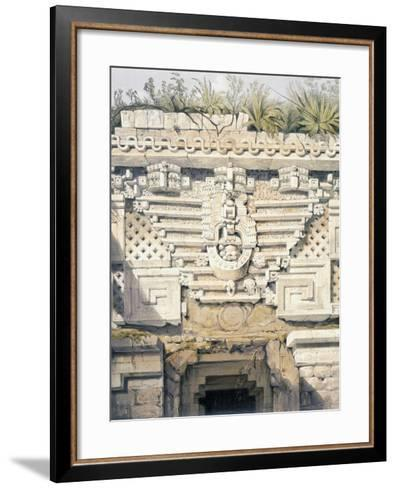 Ornament over Principal Doorway at Casa Del Gobernador, from 'Views of Ancient Monuments in…-Frederick Catherwood-Framed Art Print
