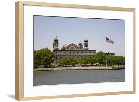 View of Ellis Island from the Liberty Island Ferry, New York--Framed Art Print