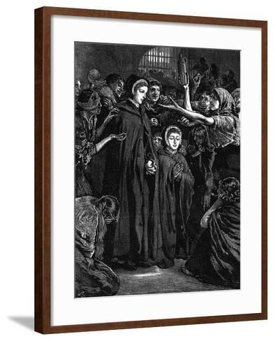 Elizabeth Fry and Anna Buxton Visiting Newgate Prison--Framed Art Print