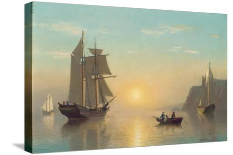 Sunset Calm in the Bay of Fundy, C.1860-William Bradford-Stretched Canvas Print