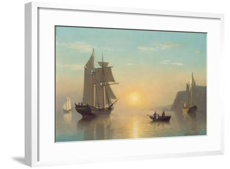 Sunset Calm in the Bay of Fundy, C.1860-William Bradford-Framed Art Print
