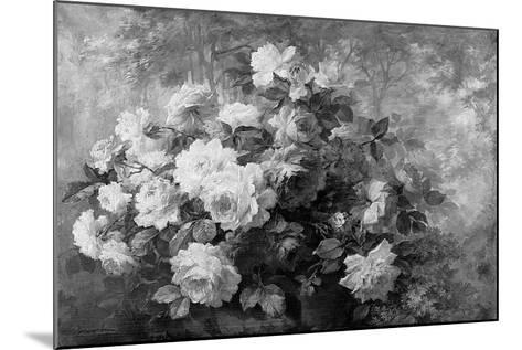 A Bunch of Roses in a Wooded Landscape-Frans Mortelmans-Mounted Giclee Print