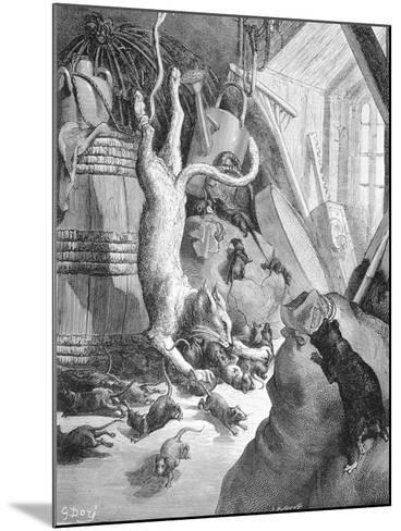 The Cat and the Old Rat, Illustration from 'Fables' by La Fontaine, 1868-Gustave Dor?-Mounted Giclee Print