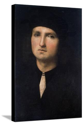 Portrait of a Young Man 1495-1500-Pietro Perugino-Stretched Canvas Print