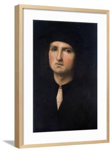 Portrait of a Young Man 1495-1500-Pietro Perugino-Framed Art Print