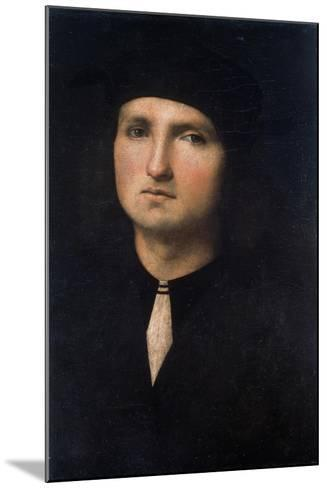 Portrait of a Young Man 1495-1500-Pietro Perugino-Mounted Giclee Print